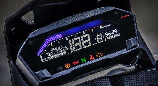 Todo digital, o painel da Honda NC 750X pode ser customizável  / Divulgação