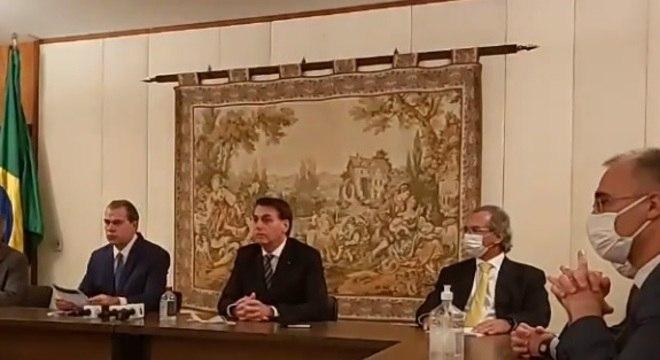 Toffoli, Bolsonaro e Guedes em encontro no STF