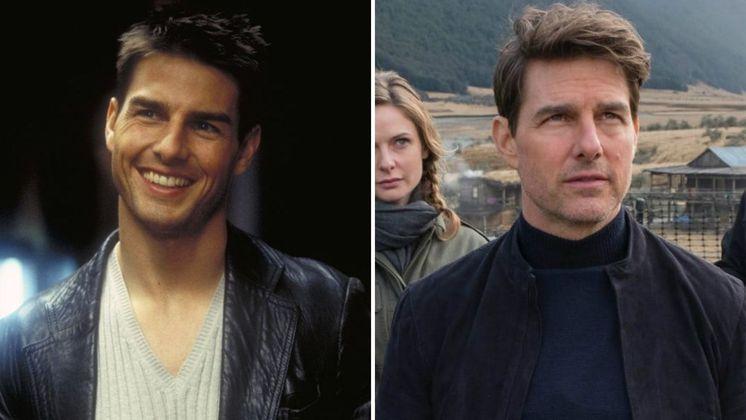 O galã da franquia no primeiro filme, em 1996, e depois, em 2018, no sexto e último longa lançado, Missão Impossível - Efeito Fallout. Apesar dos 22 anos de diferença, a mudança é mínima e continua arrancando suspiros no cinema