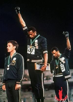 Smith e Carlos chamaram atenção para causas raciais em 1968