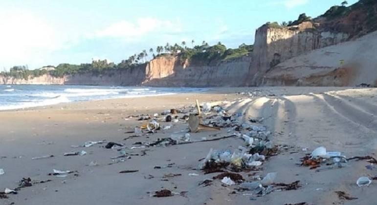Cerca de meia tonelada de lixo foi retirada nas primeiras horas do aparecimento