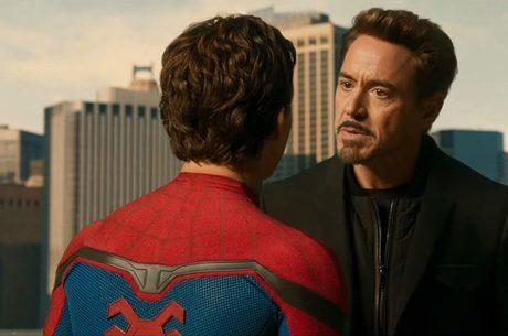 Peter e Tony Stark no universo Marvel