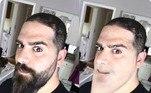 Muitos homens rasparam a barba durante a pandemia