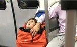 Imagens reais de uma criança capturada pelo homem do sacoLEIA TAMBÉM:Vovó breca intimidade entre jovens na rua com tábua de madeira
