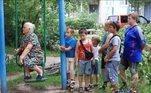 Assento preferencial até no playground