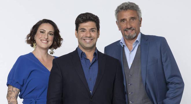 Ailin Aleixo, Felipe Bronze e Emmanuel Bassoleil avaliam as receitas dos participantes