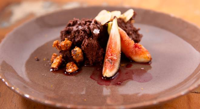 Mousse de chocolate foi uma sobremesa criada por Natália Rios