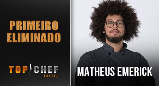 A receita de Matheus Emerick não se destacou e trouxe sua eliminação no Top Chef