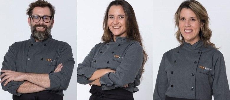 Os três chefs lutam pelo prêmio de R$ 300 mil e pelo título de Top Chef!