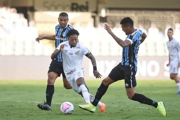 TOP: O Santos venceu o Grêmio na Vila por 2 a 1 n Brasileirão e atingiu uma série de 12 jogos sem derrotas.