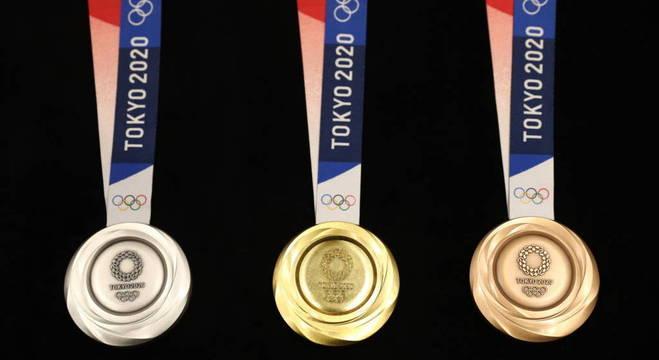 As medalhas dos Jogos de Tóquio/2020