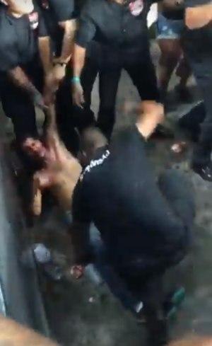 Torcedor do Botafogo espancado