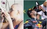 O piloto conheceu Ana em 2018, quando ela venceu um concurso feito nas redes sociais de Ricciardo. A fã fez o melhor 'shoey,prática de beber a champanhe na sapatilha, do mundo e levou um par dos sapatos usados pelo australiano