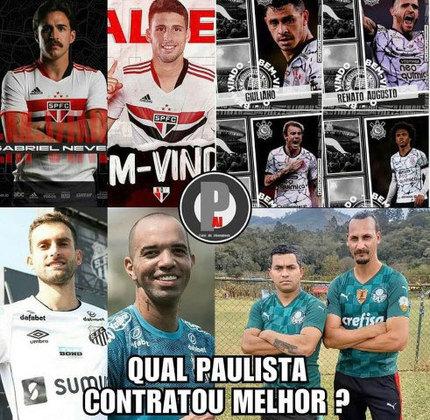 Torcedores brincam com falta de contratações do Palmeiras