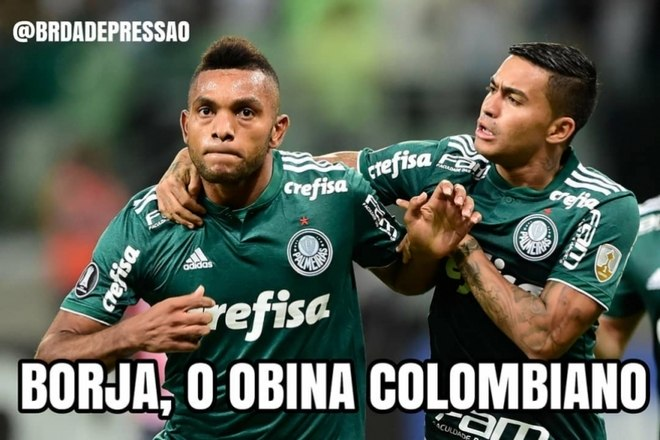 Torcedores do Palmeiras brincam após boa atuação de Borja e vitória na Libertadores