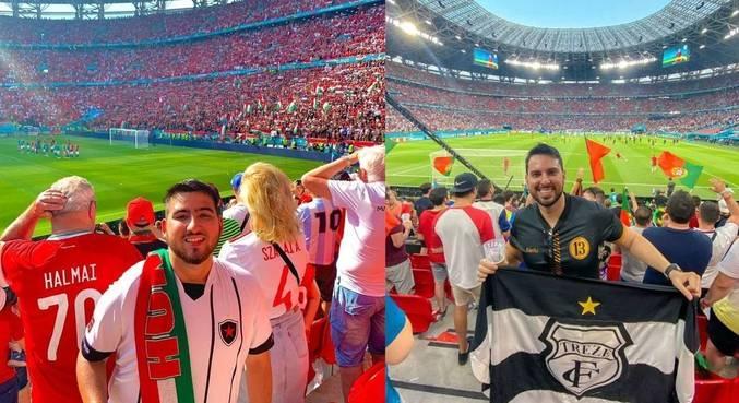 Os dois torcedores acompanharam partidas da Euro na Puskás Arena