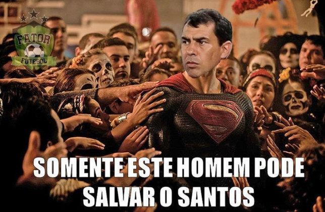 Torcedores fazem memes com Fábio Carille no Santos