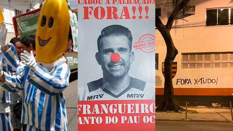 Torcedores usam e abusam da criatividade na hora de protestarem contra o time, comissão técnica e diretoria. Veja na galeria alguns casos famosos no futebol brasileiro!