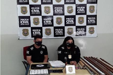 Polícia achou porretes e bombas nas sede