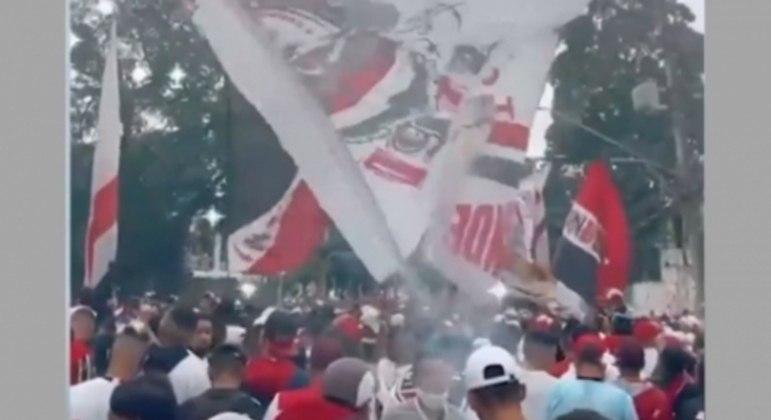 Torcida do São Paulo comemora título