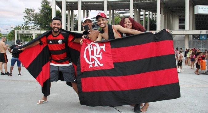 Torcida se reuniu no Maracanã para apoiar Flamengo contra Internacional