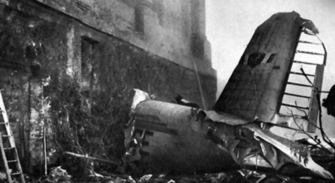 Uma imagem da tragédia do Torino, em Superga, em 1949