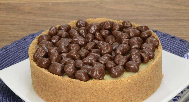 Torta aberta de chocolate branco e Minibis®