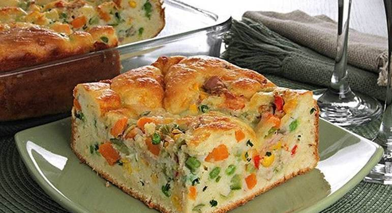 Torta de atum e legumes
