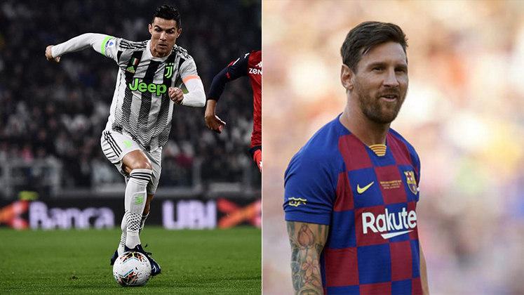 TOTAL - Cristiano Ronaldo: 838 jogos oficiais e 626 gols x Messi: 718 jogos oficiais e 627 gols