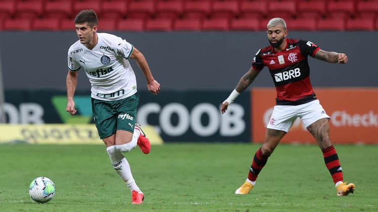 Total entre os prováveis titulares - Flamengo: R$ 523,34 milhões   Palmeiras: R$ 240,37 milhões