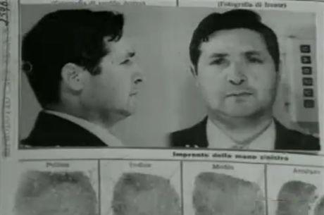 Ficha de uma das prisões do chefão da máfia Totò Riina
