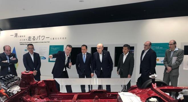 João Doria, Rafael Chang e Massahiro Inoue em Nagoia, no Japão