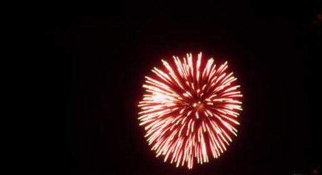 Tradicional show pirotécnico do Réveillon terá uma queima de fogos de aproximadamente 15 minutos dividida em dois pontos