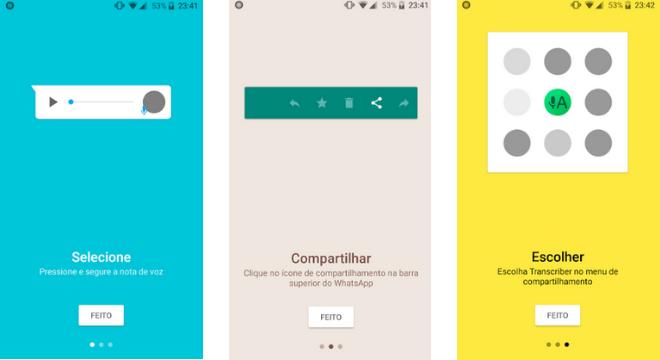O aplicativo permite saber o conteúdo do áudio sem precisar reproduzir