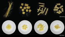 Cientistas desenvolvem macarrão que muda de forma quando cozido