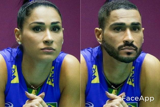 Transformação da jogadora de vôlei Jaqueline