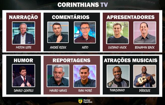 Transmissão na Corinthians TV somente com torcedores ilustres do clube
