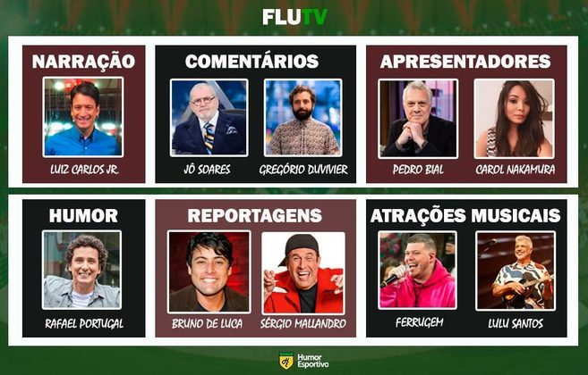Transmissão na FluTV somente com torcedores ilustres do clube