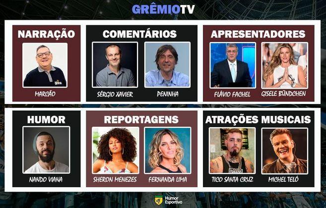 Transmissão na Grêmio TV somente com torcedores ilustres do clube