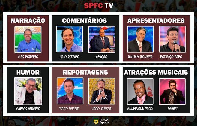 Transmissão na SPFC TV somente com torcedores ilustres do São Paulo