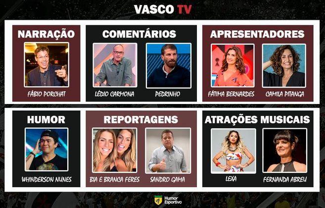 Transmissão na Vasco TV somente com torcedores ilustres do clube