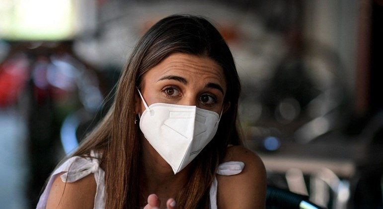 Andrea López Robles (foto) passou por transplante de fígado e tomou vacina contra covid-19