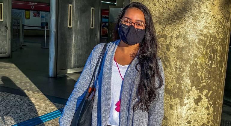 Rafaela Moura, de 23 anos, saiu de Itaquera, na zona leste, para chegar na Bela Vista, no centro