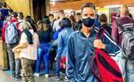O zelador, Laerte José Oliveira, de 44 anos, avaliou o transporte público em São Paulo como