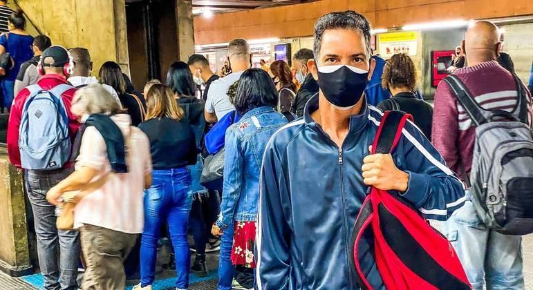 Laerte Oliveira, de 44 anos: 'o pior da pandemia vai ser o desemprego e a fome'