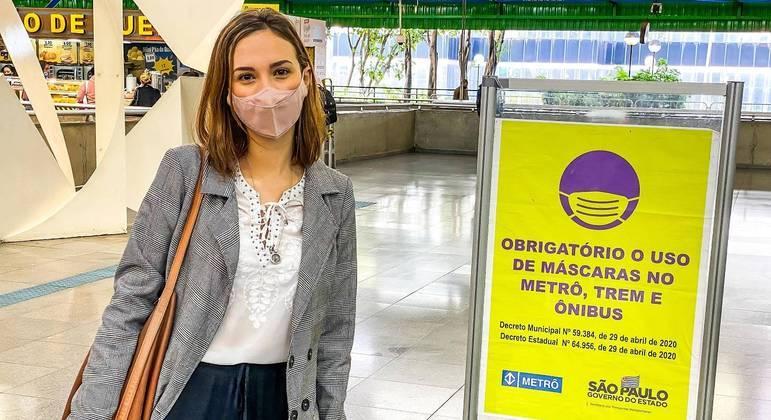 Bruna Moraes, de 27 anos: 'as pessoas precisam trabalhar'