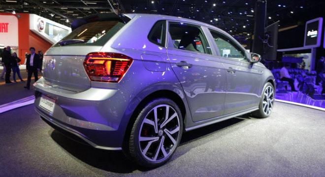 Traseira do novo Polo GTS, lançado do Salão do Automóvel