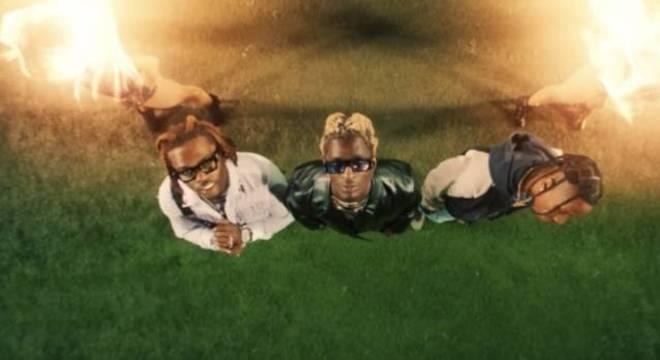 Travis Scott, Young Thug e Gunna em vídeo de