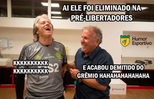 Treinador não resistiu a eliminação precoce do tricolor na Libertadores e deixa o cargo após 4 anos e meio. Na web, torcedores brincaram com a queda. Veja! (Por Humor Esportivo)