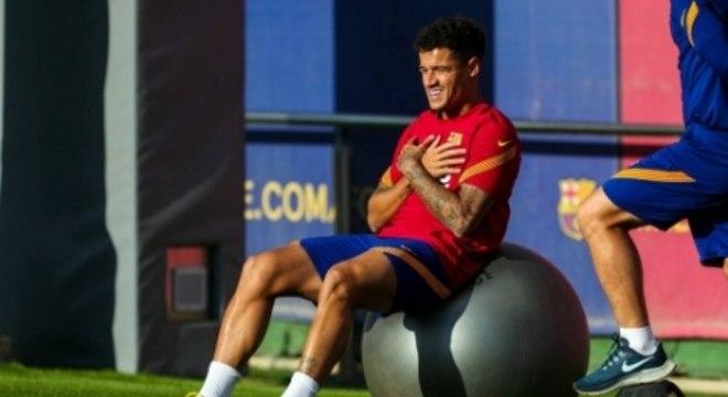Treino - Barcelona - Philippe Coutinho